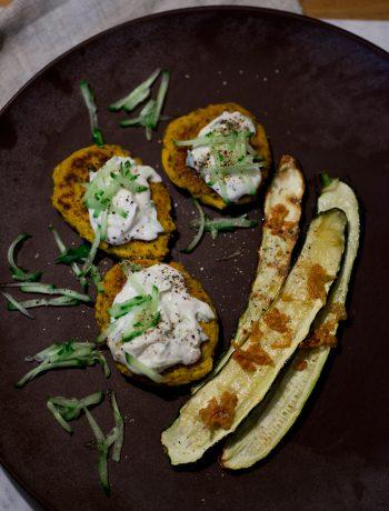 vegan glutenfri zucchini kikärtsbiffar